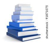 Books. Pile Of Books. Blue...