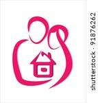 safe home concept icon | Shutterstock .eps vector #91876262
