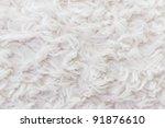 White Plush Or Wool Texture