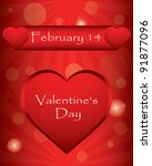 special valentin s day... | Shutterstock .eps vector #91877096
