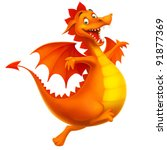 dragon cute smiling happy as... | Shutterstock . vector #91877369