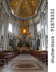 Cattedra of St.Peter in St.Peter's Basilica, Vatican City, Rome. - stock photo