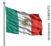 flag of mexico | Shutterstock . vector #91882472