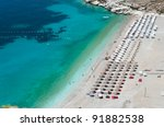 sea and beach of southern... | Shutterstock . vector #91882538