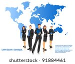 business people  vector... | Shutterstock .eps vector #91884461