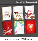 valentine's day greeting card | Shutterstock .eps vector #91886555