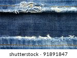 Background From A Jeans Fabric...