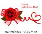 valentine s day background. red ... | Shutterstock .eps vector #91897442