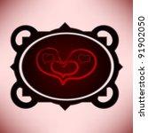 vintage pastel love frame | Shutterstock .eps vector #91902050