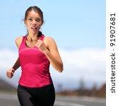 Runner   Woman Running Outdoor...