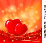 Valentine S Day Background. Tw...