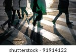 silhouettes of people at... | Shutterstock . vector #91914122