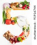 healthy vegetables  meats ...