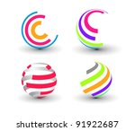 set of abstract colorful icons...