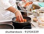 chef at work   Shutterstock . vector #91934339