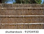Traditional japanese fence from bamboo twig - stock photo