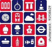 united kingdom's pictograms | Shutterstock .eps vector #91938629
