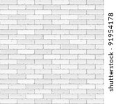 white brick wall. vector. | Shutterstock .eps vector #91954178
