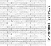 white brick wall. vector. | Shutterstock .eps vector #91954178