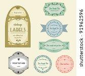 highly detailed vintage labels... | Shutterstock .eps vector #91962596