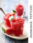 refreshing watermelon granita | Shutterstock . vector #91971101