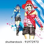 fashion girl's | Shutterstock . vector #91972973