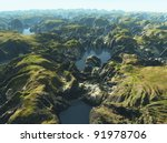 Amazon river bird's eye view - stock photo