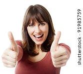 beautiful woman porttrait... | Shutterstock . vector #91985759