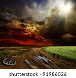 Countryside Landscape With Dir...
