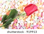 valentines roses   candy   gifts | Shutterstock . vector #919913