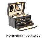Black Leather Box For Cosmetic...