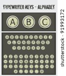 Typewriter Keys Alphabet
