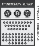 Typewriter Keys Alphabet Black