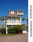 New Florida Beach House - stock photo