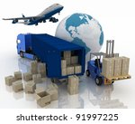 types of transport of...   Shutterstock . vector #91997225