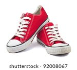 Vintage Red Shoes On White...