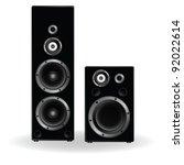speaker two in black...   Shutterstock .eps vector #92022614