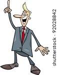 cartoon humorous illustration... | Shutterstock . vector #92028842