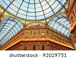 The Galleria Vittorio Emanuele II in Milan - Italy - stock photo