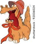 cheerful spotty dragon ... | Shutterstock . vector #92036024