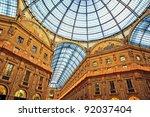 The Galleria Vittorio Emanuele II in Milan. - stock photo
