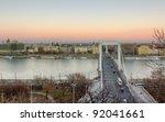 view of elisabeth bridge and... | Shutterstock . vector #92041661