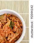 Korean Fermented Cabbage - Close-up - stock photo