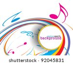 abstract music notes design for ... | Shutterstock .eps vector #92045831