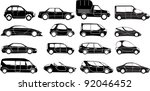 cars collection black   vector   Shutterstock .eps vector #92046452
