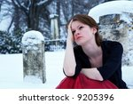 Beautiful Teen Grieving In A...