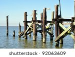 A Fishing Pier In Lake...