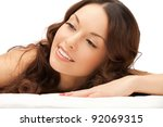 picture of beautiful woman... | Shutterstock . vector #92069315