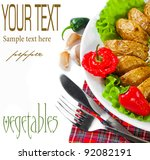 the composition of vegetable | Shutterstock . vector #92082191