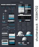 elements of infographics with... | Shutterstock .eps vector #92084702